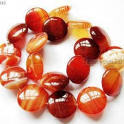 Red-Carnelian-Natural-Agate-Gemstone-Round-Coin-Loose-Beads-15039039-Inches-Strand-281162983034-3533