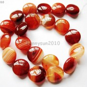 Red-Carnelian-Natural-Agate-Gemstone-Round-Coin-Loose-Beads-15039039-Inches-Strand-281162983034-6583
