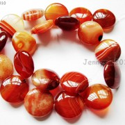 Red-Carnelian-Natural-Agate-Gemstone-Round-Coin-Loose-Beads-15039039-Inches-Strand-281162983034-7232