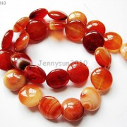 Red-Carnelian-Natural-Agate-Gemstone-Round-Coin-Loose-Beads-15039039-Inches-Strand-281162983034-8169