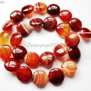 Red-Carnelian-Natural-Agate-Gemstone-Round-Coin-Loose-Beads-15039039-Inches-Strand-281162983034-b096