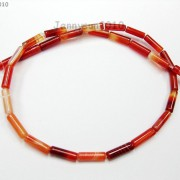 Red-Carnelian-Natural-Agate-Gemstone-Tube-Beads-155039039-4mm-x-13mm-8mm-x-20mm-370882357866-be42