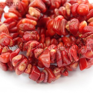 Red-Coral-Gemstone-5-8mm-Chip-Loose-Beads-35-For-Bracelet-or-Necklace-Making-370877468705