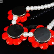Resin-Rhinestone-Rose-Flowers-Glass-Pearl-Beads-Bib-Statemn-Gold-Plated-Necklace-281385714807-4