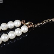 Resin-Rhinestone-Rose-Flowers-Glass-Pearl-Beads-Bib-Statemn-Gold-Plated-Necklace-281385714807-5
