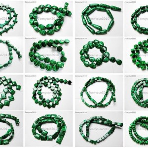 Synthetic-Malachite-Gemstone-Loose-Beads-155-Cross-Square-Cube-Drop-Coin-Oval-281096341361