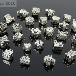 Tibetan-Silver-Big-Hole-Connector-Metal-Spacer-European-Charm-Beads-Findings-1-262184279992