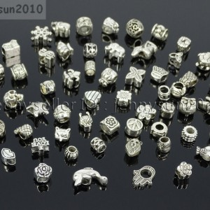 Tibetan-Silver-Big-Hole-Connector-Metal-Spacer-European-Charm-Beads-Findings-2-371515458241