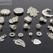 Tibetan-Silver-Connector-Metal-Spacer-Charm-Beads-Jewelry-Design-Findings-Crafts-371492141803-2