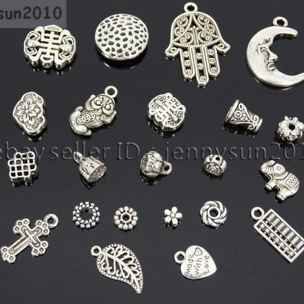 Tibetan-Silver-Connector-Metal-Spacer-Charm-Beads-Jewelry-Design-Findings-Crafts-371492141803