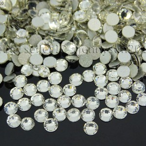 Top-Quality-Czech-Clear-Crystal-Round-Rhinestones-Flatback-Non-Hotfix-ss3-ss40-370874801874