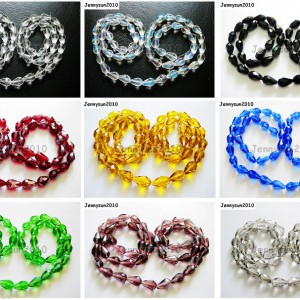 Top-Quality-Czech-Crystal-Faceted-Teardrop-Pendant-Beads-8mm-x-11mm-10mm-x-15mm-261042961471
