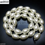 Top-Quality-Czech-Glass-Pearl-Pear-Teardrop-Loose-Beads-155039039-White-Cream-Black-261124932854-d64f