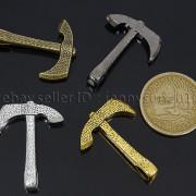Vintage-Antique-Solid-Metal-Axe-Chopper-Bracelet-Connector-Pendant-Charm-Beads-262893505170-5