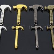 Vintage-Antique-Solid-Metal-Hammer-Sinker-Bracelet-Connector-Pendant-Charm-Beads-262896091312