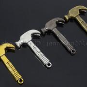 Vintage-Antique-Solid-Metal-Hammer-Sinker-Bracelet-Connector-Pendant-Charm-Beads-262896091312-2