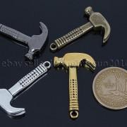 Vintage-Antique-Solid-Metal-Hammer-Sinker-Bracelet-Connector-Pendant-Charm-Beads-262896091312-4