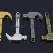 Vintage-Antique-Solid-Metal-Hammer-Sinker-Bracelet-Connector-Pendant-Charm-Beads-262896091312-5