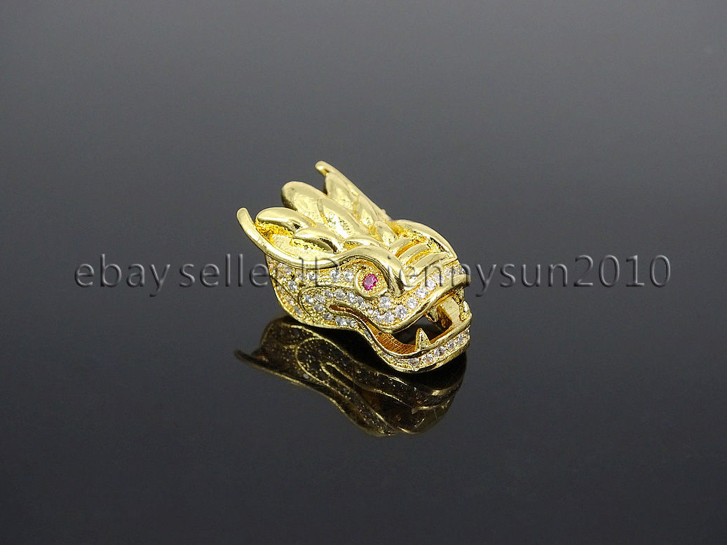 Pave Dragon Head Bracelet Connector