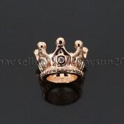 Zircon-Gemstones-Pave-Queen-Crown-Big-Hole-Bracelet-Connector-Charm-Beads-371878423265-64ff