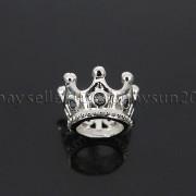 Zircon-Gemstones-Pave-Queen-Crown-Big-Hole-Bracelet-Connector-Charm-Beads-371878423265-73dc