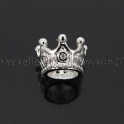 Zircon-Gemstones-Pave-Queen-Crown-Big-Hole-Bracelet-Connector-Charm-Beads-371878423265-de78